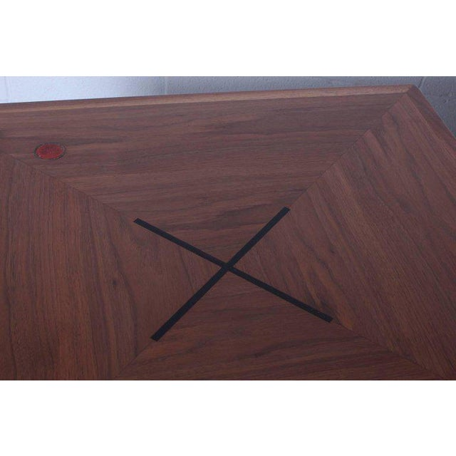 1950s Edward Wormley for Dunbar Game Table with Natzler Tiles For Sale - Image 5 of 11