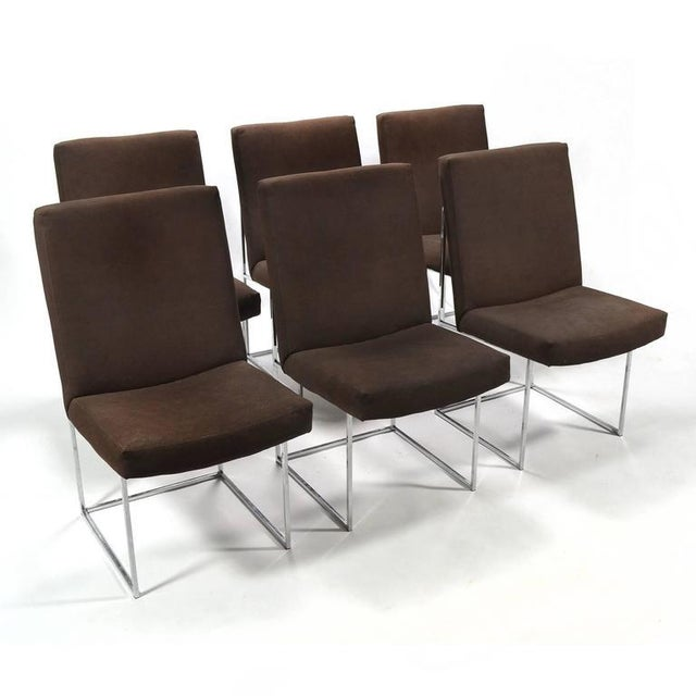 Mid-Century Modern Milo Baughman Set of Six Dining Chairs by Thayer Coggin For Sale - Image 3 of 10