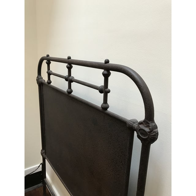 Restoration Hardware Iron Panel Bedframe - Image 5 of 6