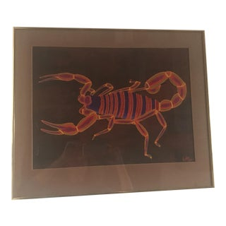 """""""The Vibrant Scorpion"""" Painting by Keffer For Sale"""
