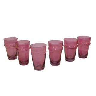 Beldi Rose Tea Glasses - Set of 6 For Sale