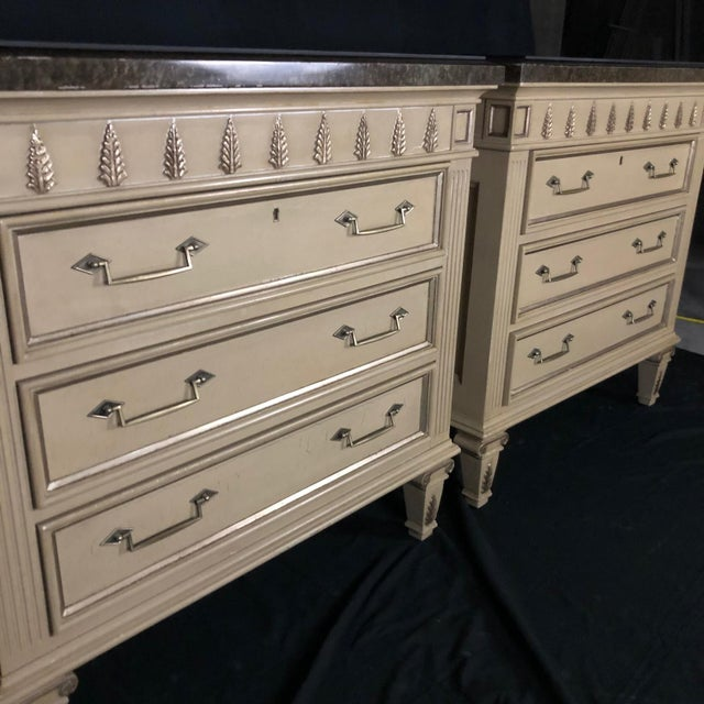 Louis XVI Style Chests or Night Stands -A Pair For Sale - Image 10 of 13