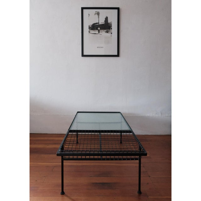 Mid-Century Modern Mid Century Modern Iron Coffee Table With Magazine Holder For Sale - Image 3 of 13