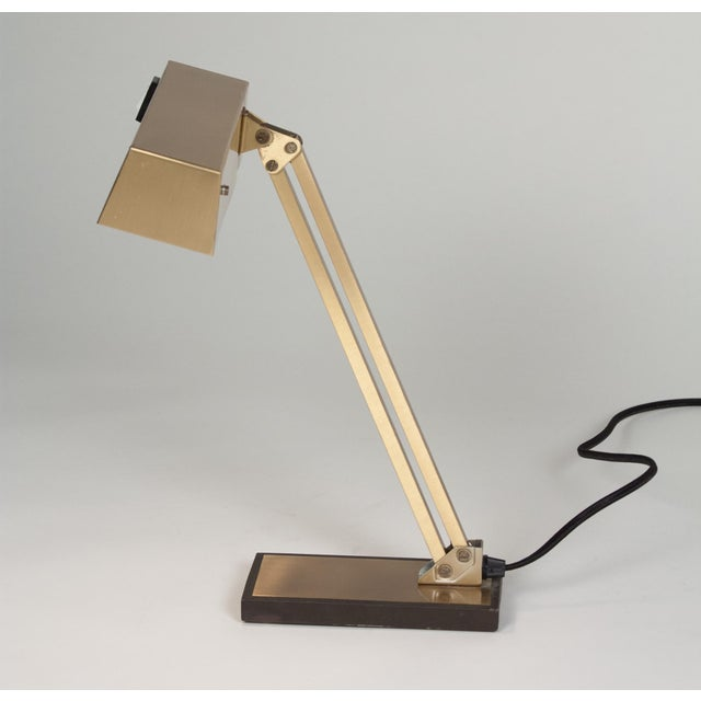 Vintage German 1960s Bronze Pivoting Desk Lamp - Image 7 of 10