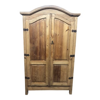 Rustic Armoire With Removable Shelves For Sale