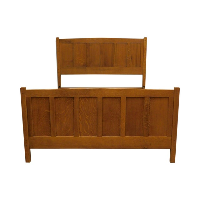 Stickley Mission Collection Oak Queen Size Panel Bed For Sale - Image 13 of 13