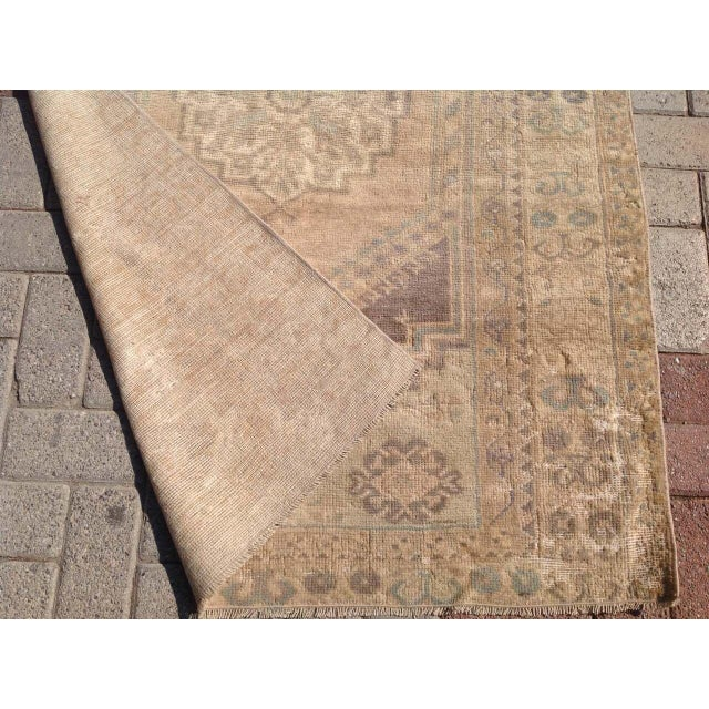 """Vintage Oushak Rug - 3'7"""" x 5'5"""" For Sale In Raleigh - Image 6 of 6"""