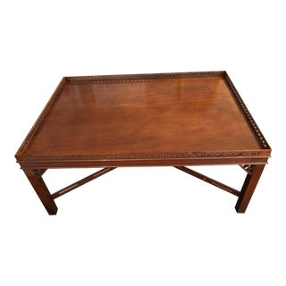20th Century Chippendale Style Fretwork Coffee Table For Sale