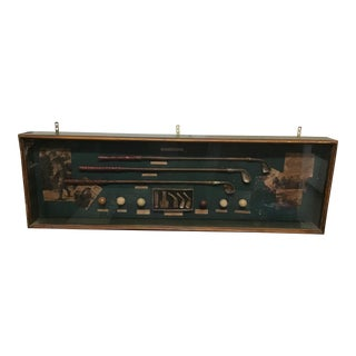 Vintage History of Golf Shadow Box For Sale