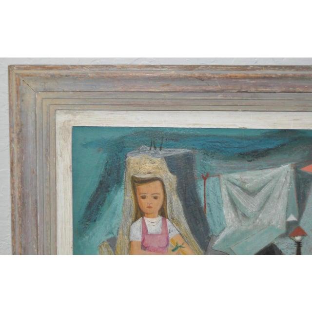 "Raymond Tom ""Domestic Surrealism"" Original Oil Painting c.1947 - Image 5 of 9"