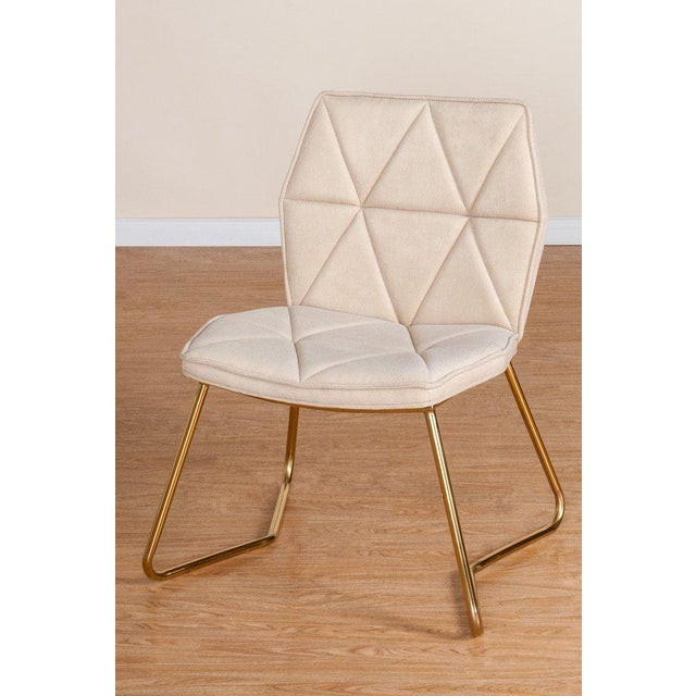 """New chair. More than 10 available. Materials: Chrome, linen Measurements : 25.5""""w x 24""""d x 32"""" h, 18 pounds Seat height:..."""