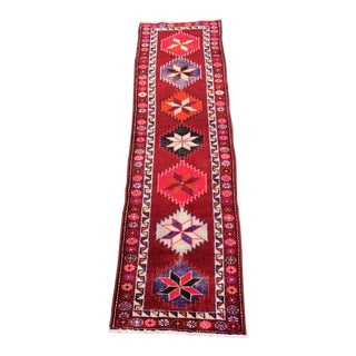 "Vintage Turkish Oushak Runner Rug - 2'9""x9'6"""