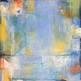Image of Abstract Colorful Painting Titled 'Port' For Sale