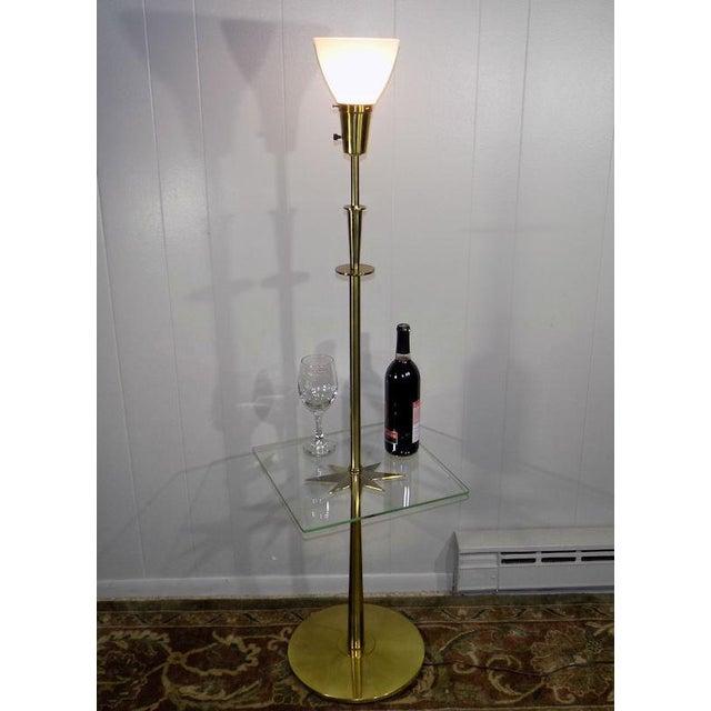 Gold 1960s Mid-Century Modern Stiffel Starburst Brass Torchiere Floor Lamp For Sale - Image 8 of 13