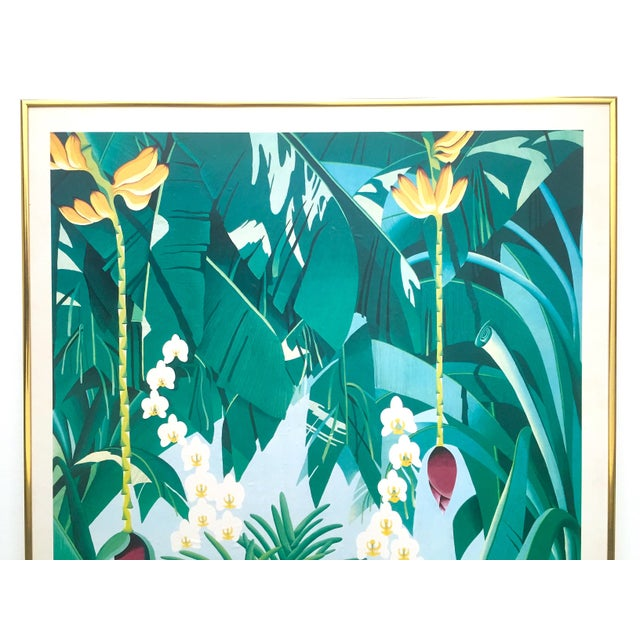 This vintage 1980 Gary Shaw Key West tropical botanical lithograph print framed exhibition poster is a very special and...