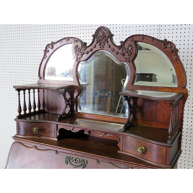 French Antique Louis XVI Style Secretary Desk For Sale - Image 3 of 8