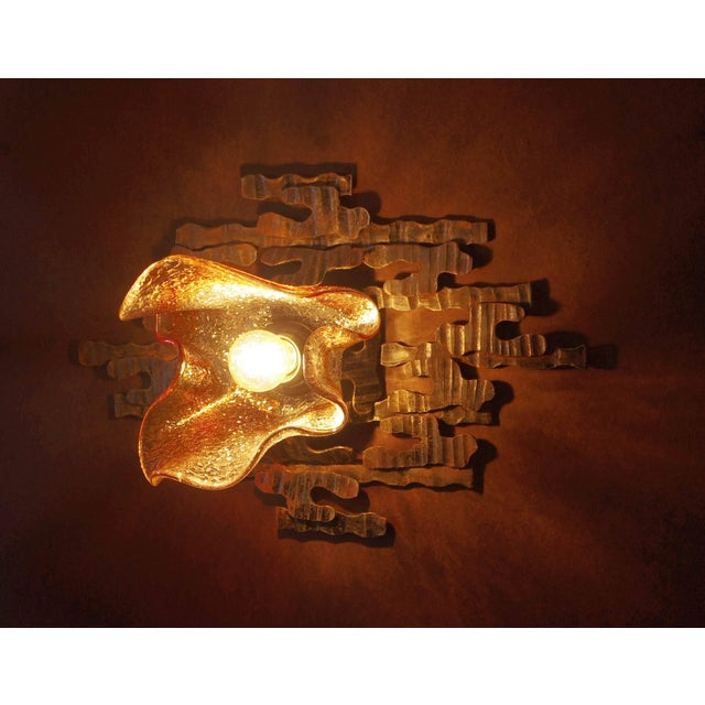 Mid 20th Century Pair of Brutalist Sconces / Flush Mounts by Tom Ahlström For Sale - Image 5 of 12