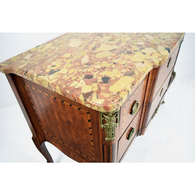 19th Century French Louis XVI Marquetry Dresser - Image 4 of 10