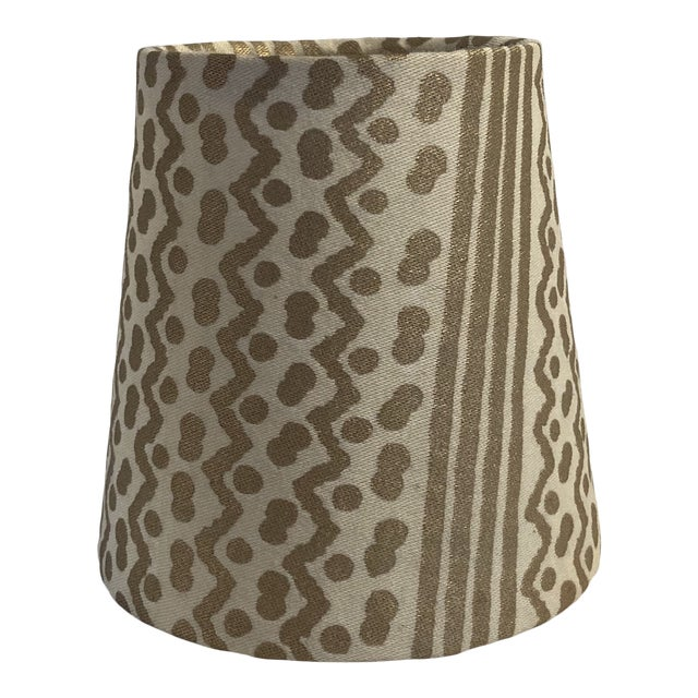 Fortuny Tapa Stripe Chandelier Shade For Sale