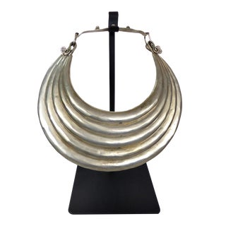 Tibetan 5 Band Necklace on Stand For Sale