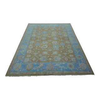 Turkish Anatolian Modern & Decorative Oushak Rug - 5′8″ × 7′3″