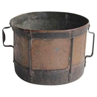 Mid 19th C. Antique English Copper & Iron Pot For Sale