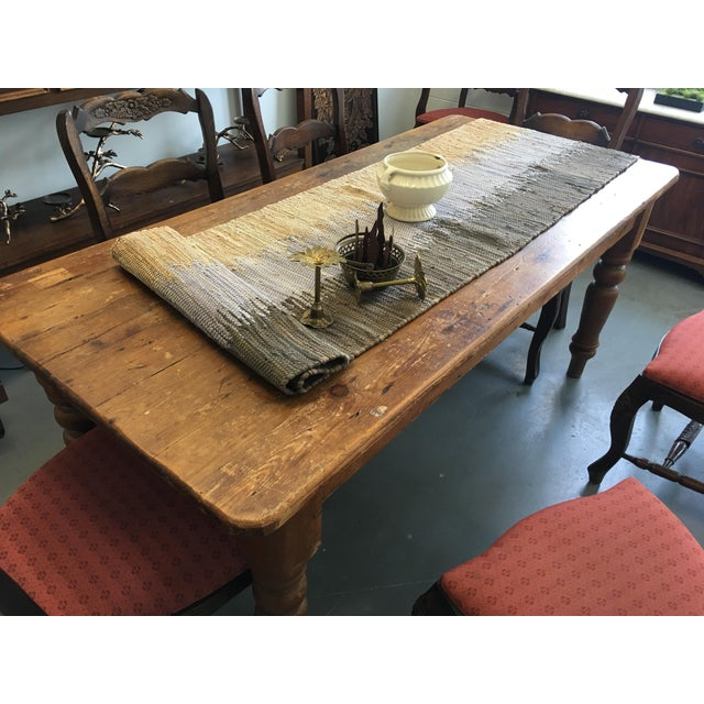 Farm Table With Drawers - Image 7 of 8
