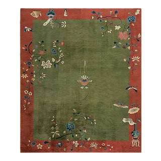 """Antique Chinese Art Deco Rug 8'0"""" X 10'0"""" For Sale"""