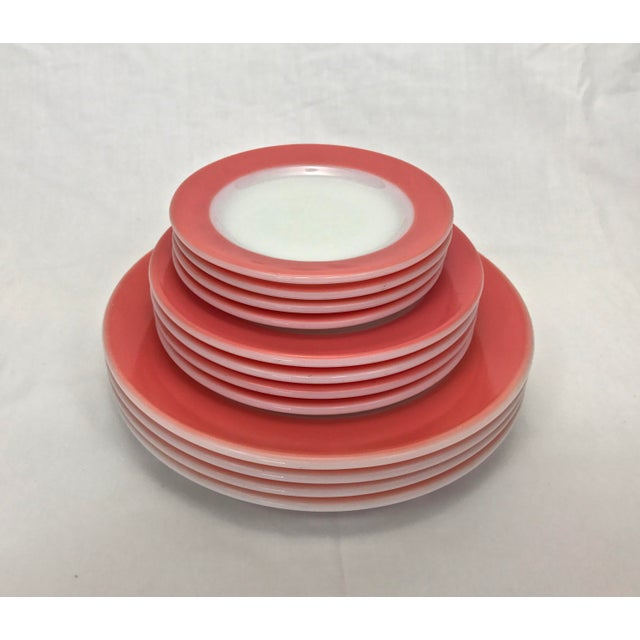 1950s Flamingo Pink Plates - Set of 12 - Image 2 of 10