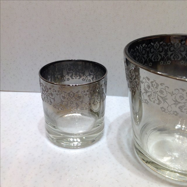 Mid-Century Silver Ombré Cocktail Set - Set of 3 For Sale - Image 4 of 7