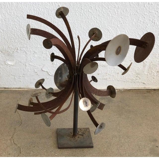 Frank Cota Brutalist Metal Table Sculpture For Sale - Image 9 of 12