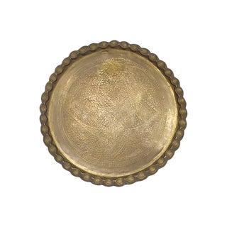 Mid-Century Moroccan Brass Tray