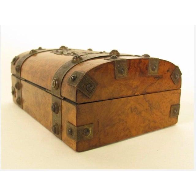 Decorative Metal-Mounted Burlwood Box - Image 5 of 7