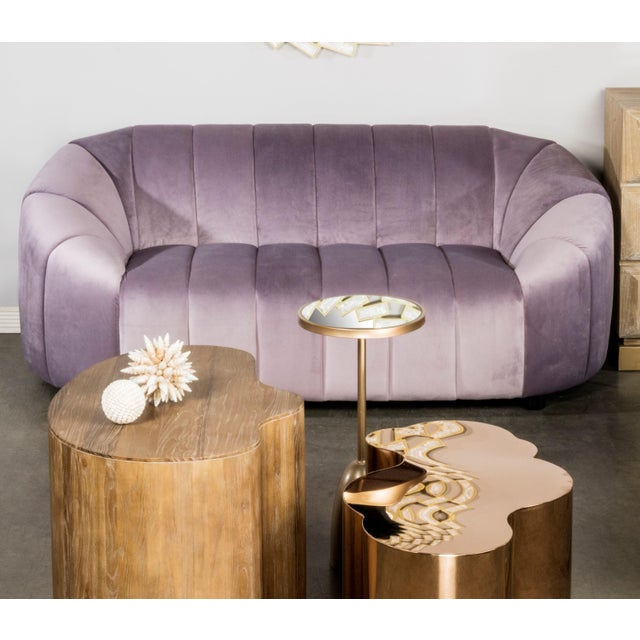 Art Deco Mauve Milly Bubble Sofa