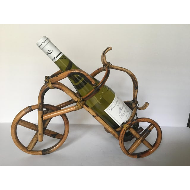 French Rattan Bicycle Wine Caddy - Image 2 of 4