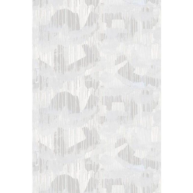 Paper Cloud Room Grey Wallpaper For Sale - Image 7 of 7