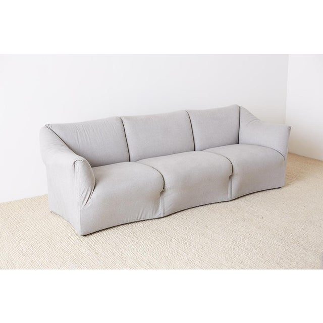 Mid-Century Modern Mario Bellini for Cassina Tentazione Upholstered Sofa For Sale - Image 3 of 13