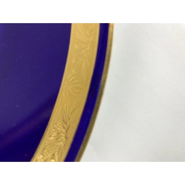 Tiffany Gold & Cobalt Blue Rimmed Dinner Plates - Set of 6 For Sale - Image 12 of 13
