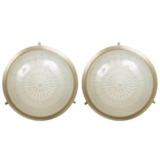 1960s Italian Sergio Mazza for Artemide Petite 'Sigma' Wall Lights - a Pair