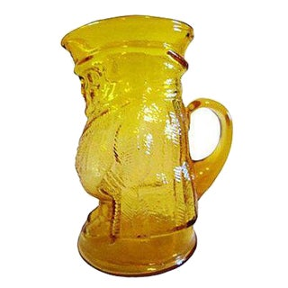 Mid-Century Yellow Glass Pitcher For Sale