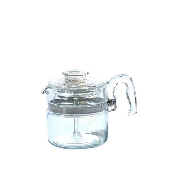 Vintage Clear Glass Pyrex Percolator Coffee Pot For Sale In Houston - Image 6 of 6