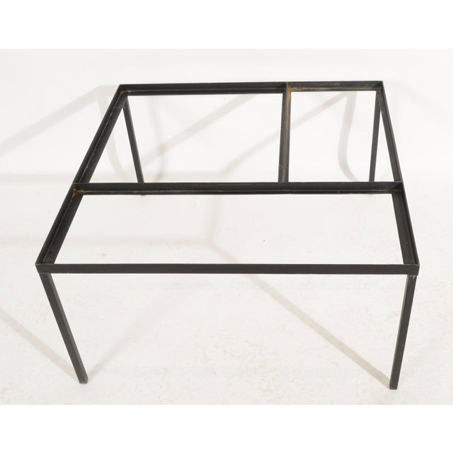 Mid-Century Modern Marble Top Coffee Table Indoor Outdoor Table With Planter Box For Sale - Image 3 of 5