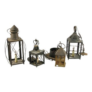 Collection of Lanterns - Set of 4 For Sale
