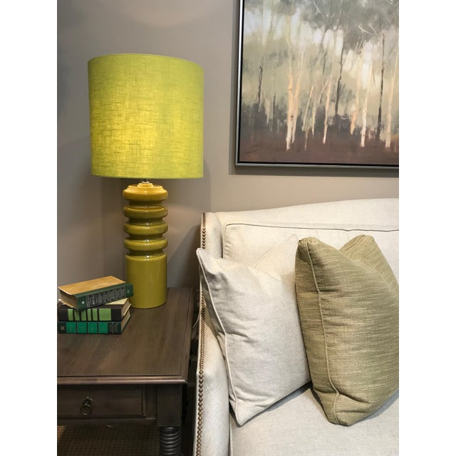 2010s Mid-Century Modern Contour Lime Table Lamp For Sale - Image 5 of 8
