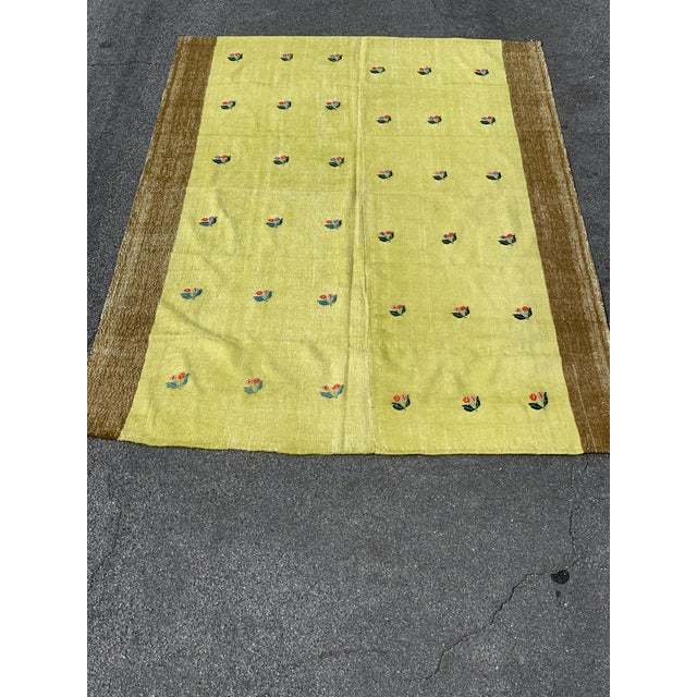 Primary color: Lemon Yellow • Length:105 inches • Width: 69 inches • Shape: Rectangle • Type: Area • Style: Bohemian &...