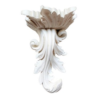Vintage Acanthus Leaf Wall Bracket Shelf For Sale