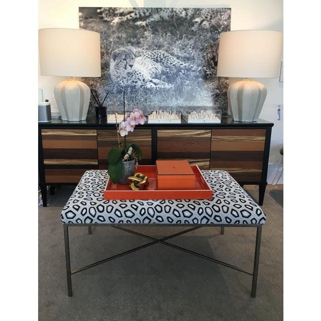 Kravet Couture Velvet Upholstered Bench For Sale In New York - Image 6 of 8