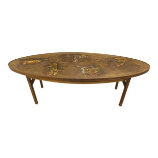 1960's Vintage Philip and Kelvin Laverne Chinese Design Bronze Coffee Table