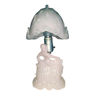 l.e. Smith Pink Spanish Lady Boudoir Lamp For Sale