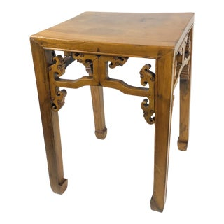 Wonderful Chinese Antique Elmwood Side Table Qing Ming For Sale